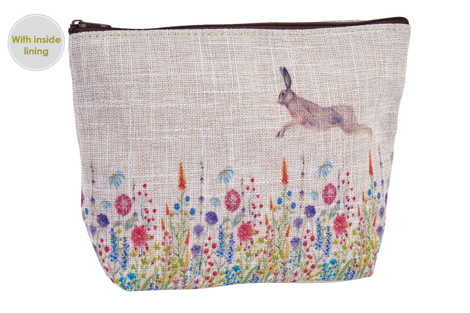 FLOWER WITH HARE POUCH