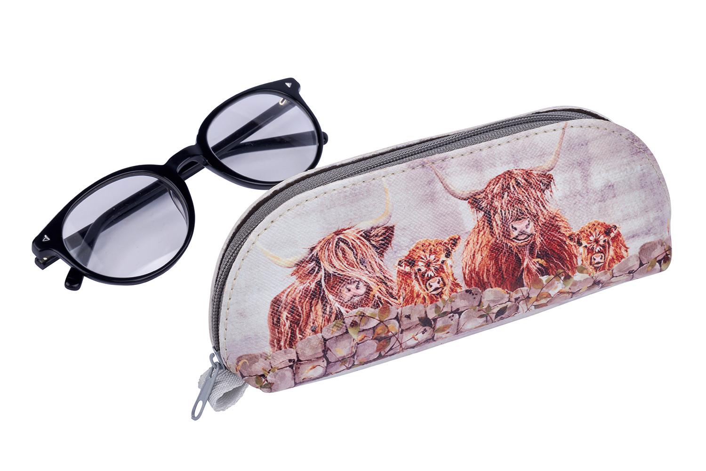 HIGHLAND COW GLASSES CASE
