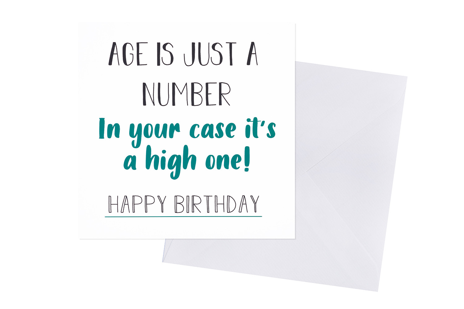 AGE IS JUST A NUMBER CARD