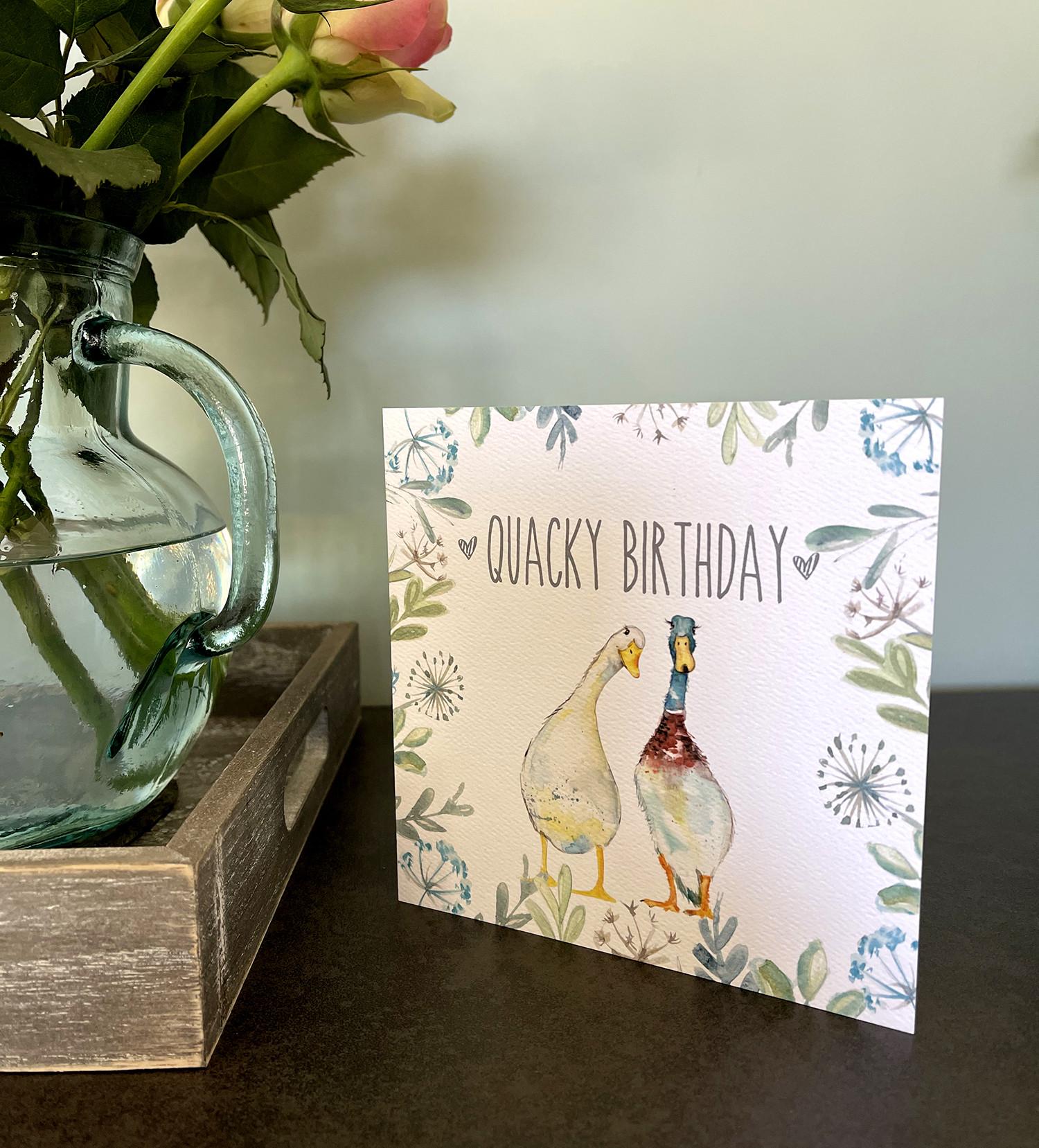 QUACKY BIRTHDAY CARD