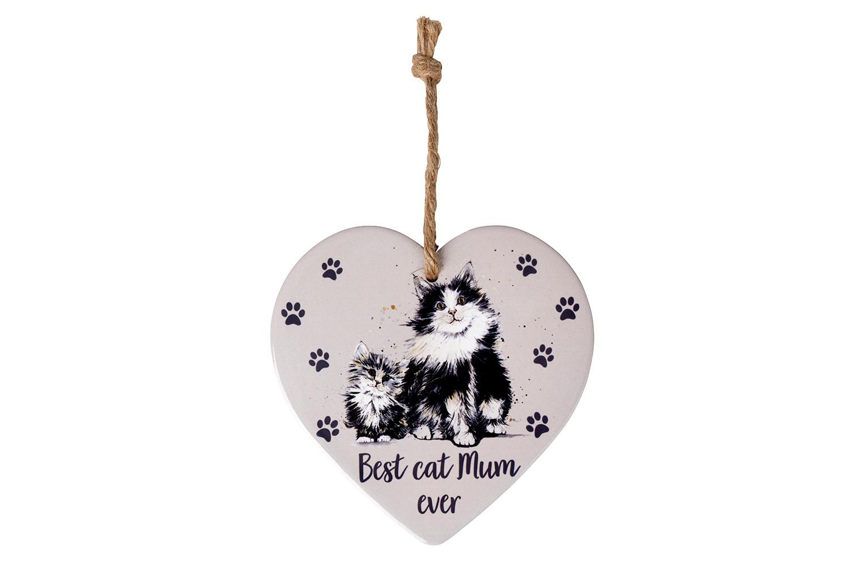 CAT MUM HEART HANGER