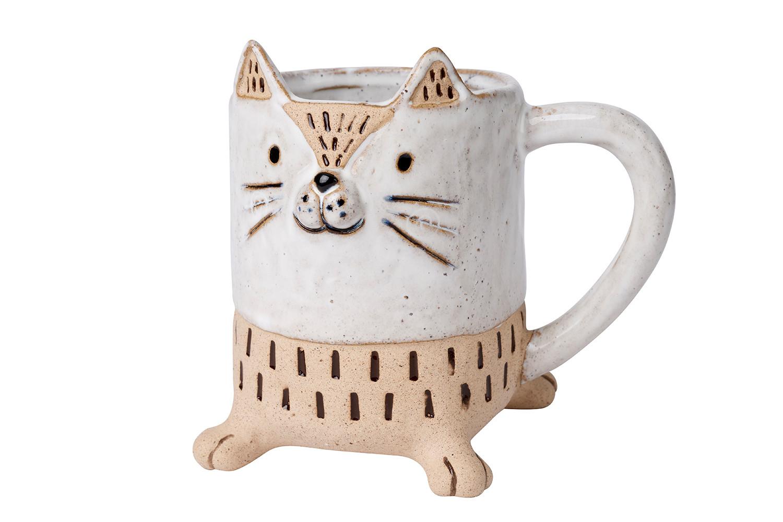 GREY CAT MUG