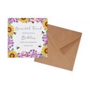SUNFLOWERS BEE CARD