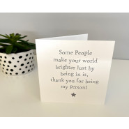 SOME PEOPLE STAR CARD