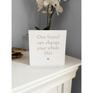 ONE FRIEND HEART CARD