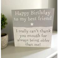 BEST FRIEND GREY CARD