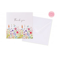 FLOWER THANK YOU CARD