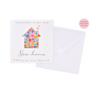 FLOWER NEW HOME CARD