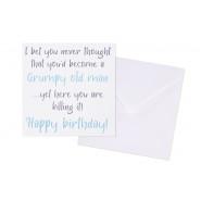 GRUMPY BIRTHDAY CARD
