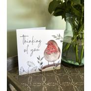 THINKING OF YOU ROBIN/FLWR CARD