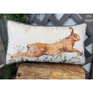 LEAPING HARE CUSHION*