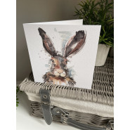 HARE ABSTRACT CARD
