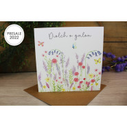DIOLCH O GALON CARD