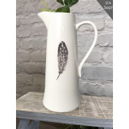 EMBOSSED FEATHER JUG*