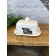 H/L COW BUTTER DISH*