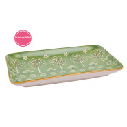 GREEN TREE SNACK PLATE