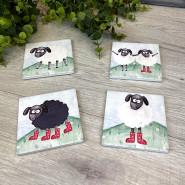 SHEEP COASTER 4 ASSTD S/4