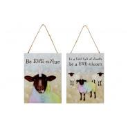 EWE SHEEP PLAQUE 2 ASSTD