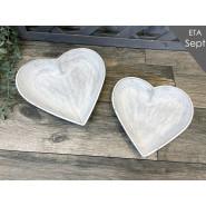 HEART SHAPED PLATE SET 2*