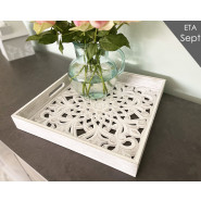 CARVED SQ TRAY*