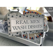 REAL MEN DISHES PLAQUE*