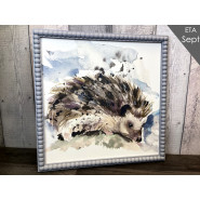 HEDGEHOG PICTURE W/BEAD*